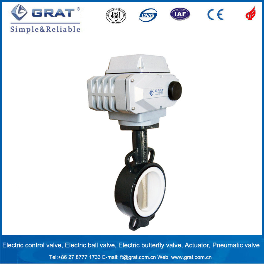 Dn400 Cast Steel Stainless Steel Electric Motoized Triple Eccentric Butterfly Valve