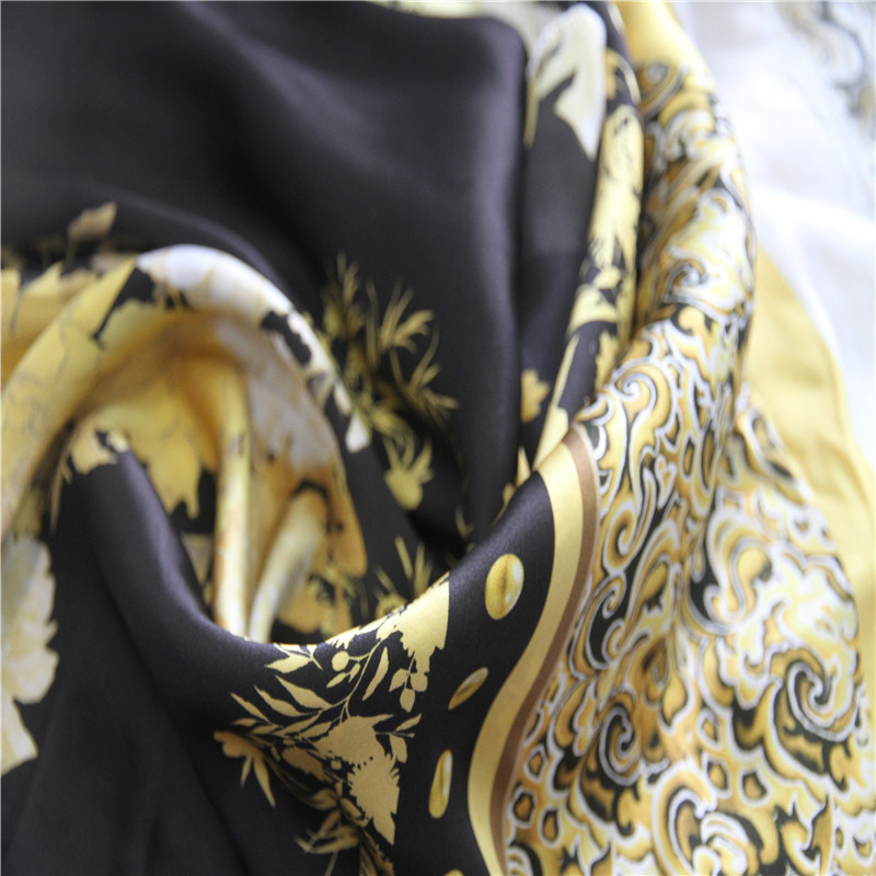 Silk Satin with Digital Printing for Women Dress