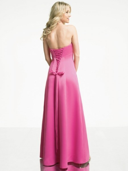 Pink Long Wedding Gown Floor Length Bridal Dress