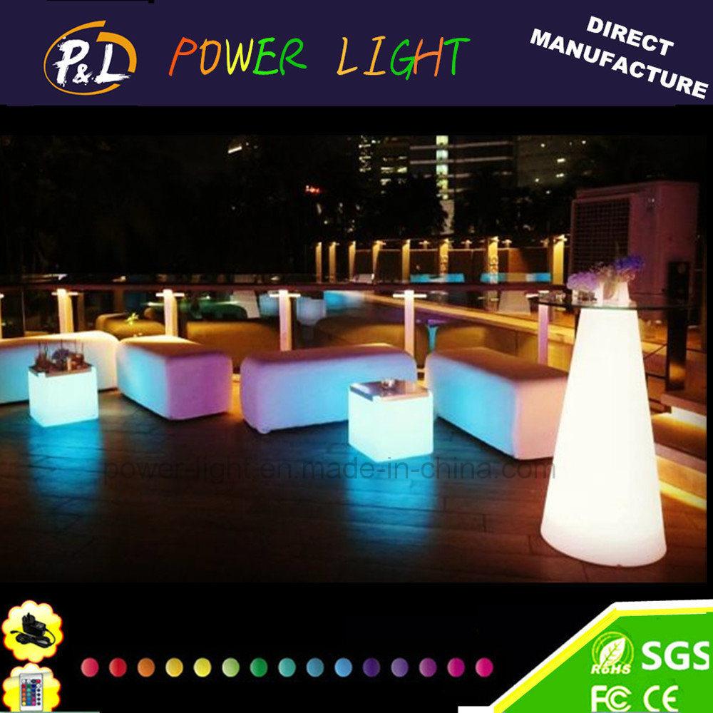 Event&Party Plastic Furniture Colorful Illuminated LED Table