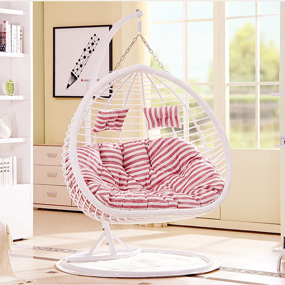 Outdoor Wicker/Rattan Egg Shape Furniture Garden Hanging Swing Chair