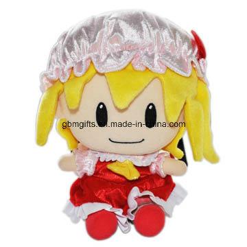 Hot Sale Soft Cute Cartoon Image Big Embroidery Eyes Sex Girl Plush Doll Toy