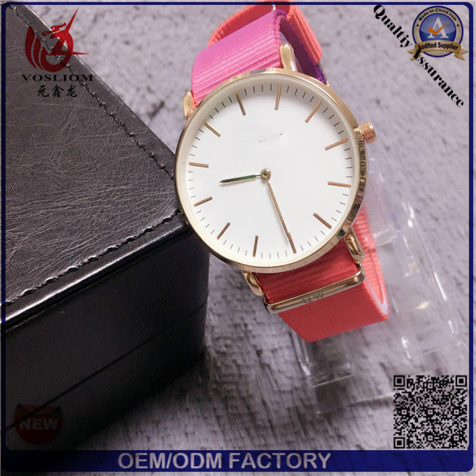 Yxl-076 2017 latest Hot Selling New Products Rainbow Nylon Nato Band Dw Wrist Watches