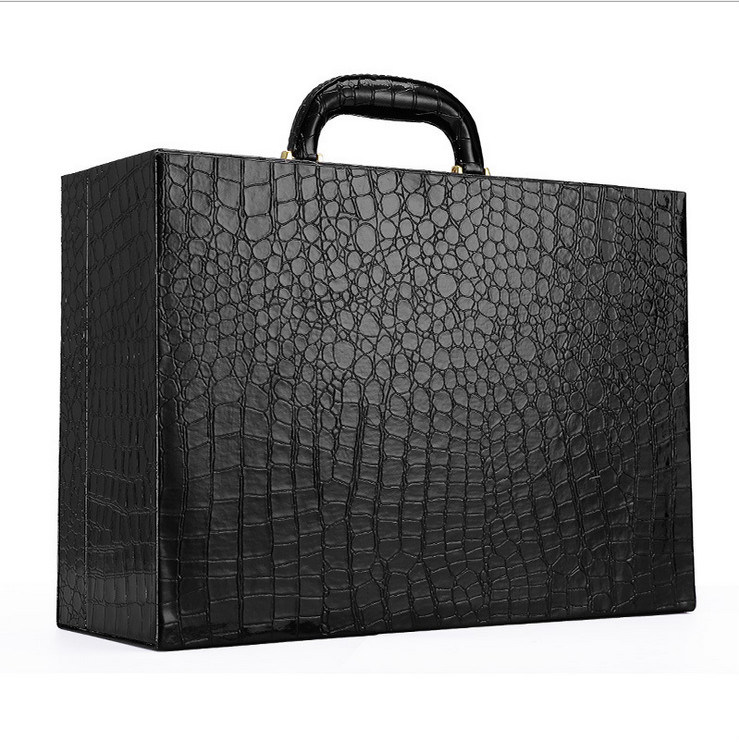 High Quality PU Leather Box with Alligator Print for Wholesales