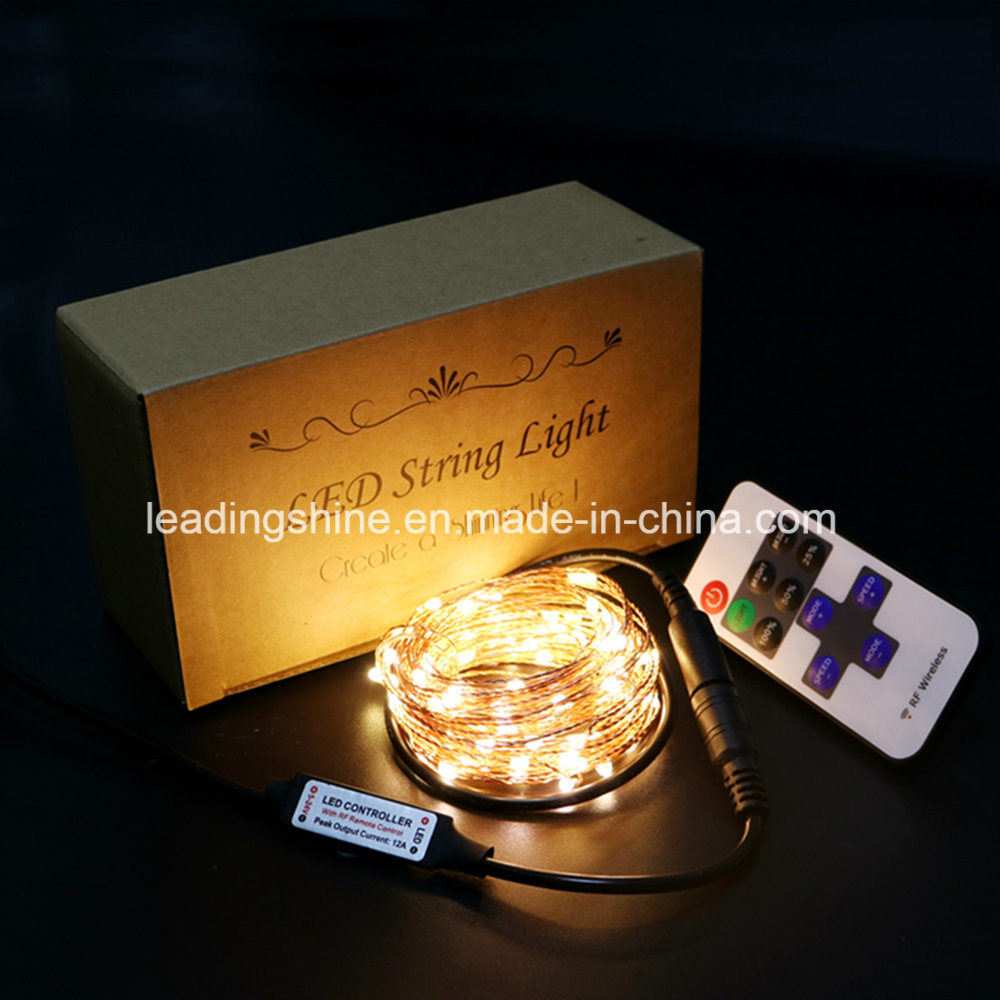 Dimmable LED Warm White String Lights Flexible Silver Coating Copper Wire with UL Certificate