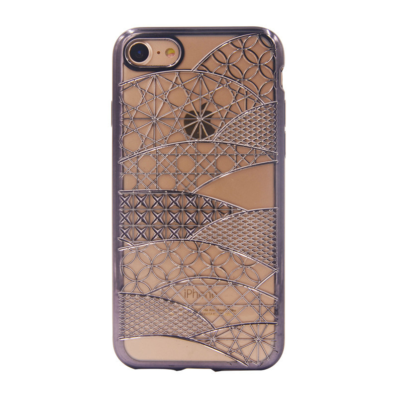 for iPhone 7g 7plus Plating Phoenix Pattern Case TPU Mobile Phone Accessories (XSDD-074)