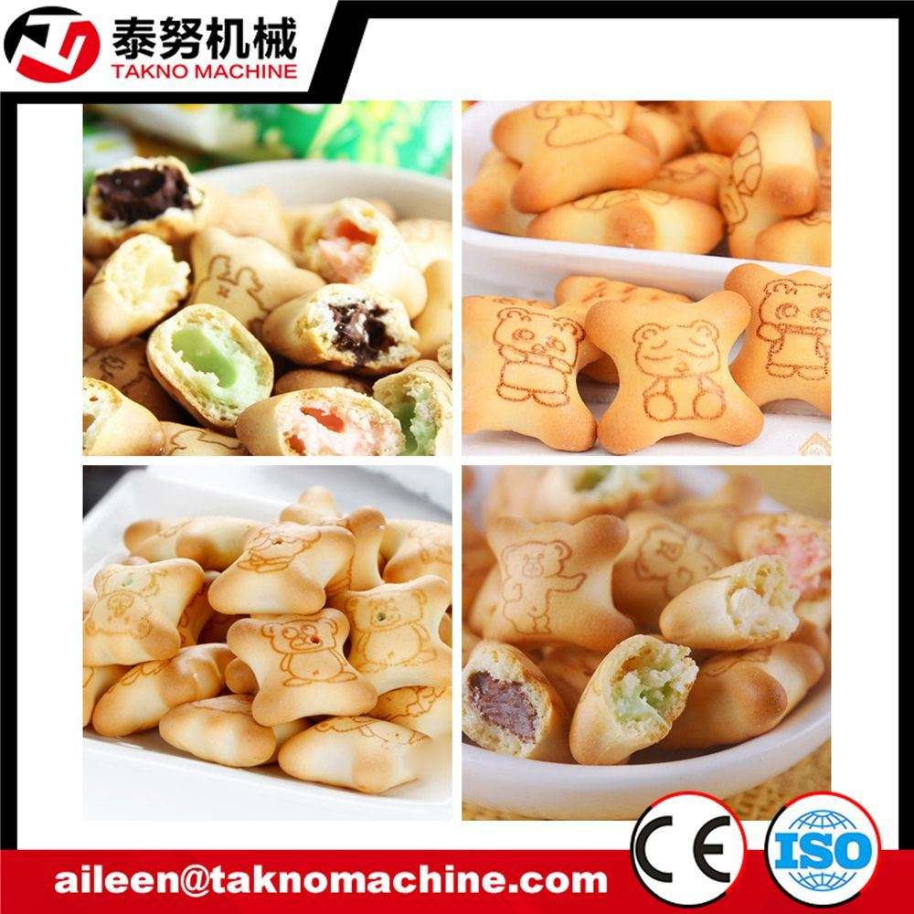 Stainless Steel Chocolate Filled Panda Type Cookies Machine