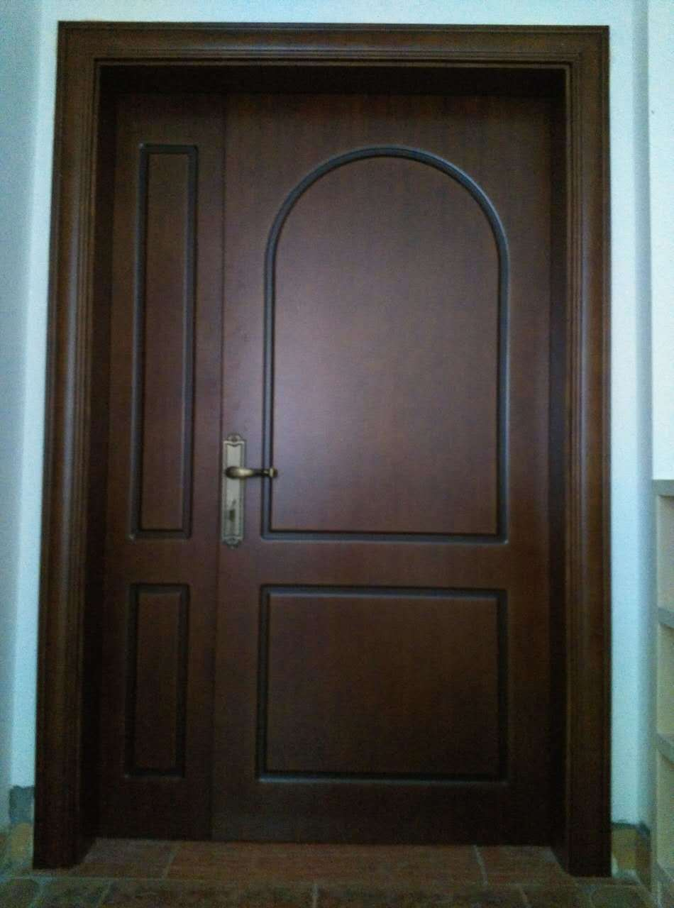 Simple Style Solid Wood Composite Door for Hotel Door Apartment Door School (DS-021)