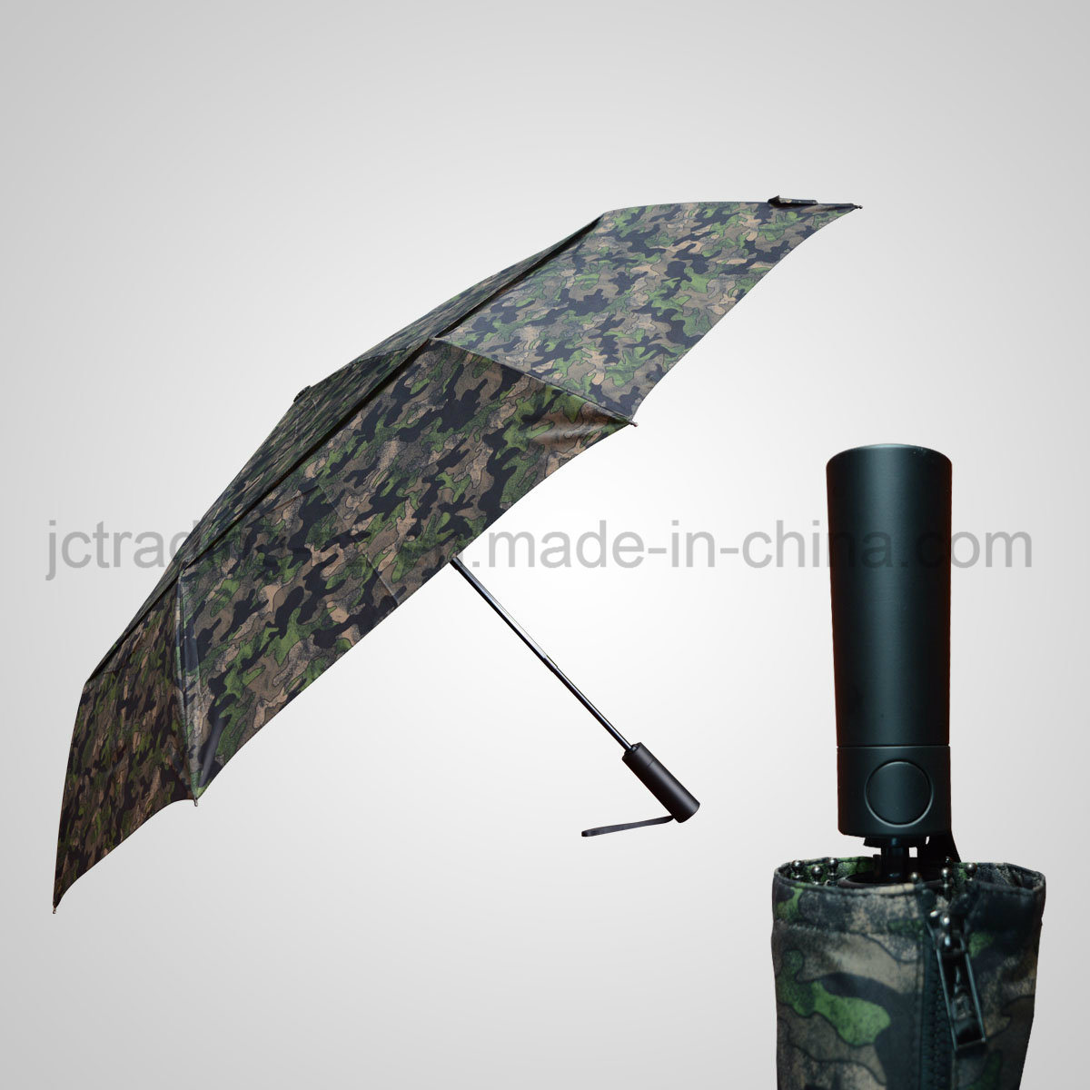 Automatic Open&Close Double Layer Golf 3 Folding Rain /Sun Umbrella (JF-AGF308)