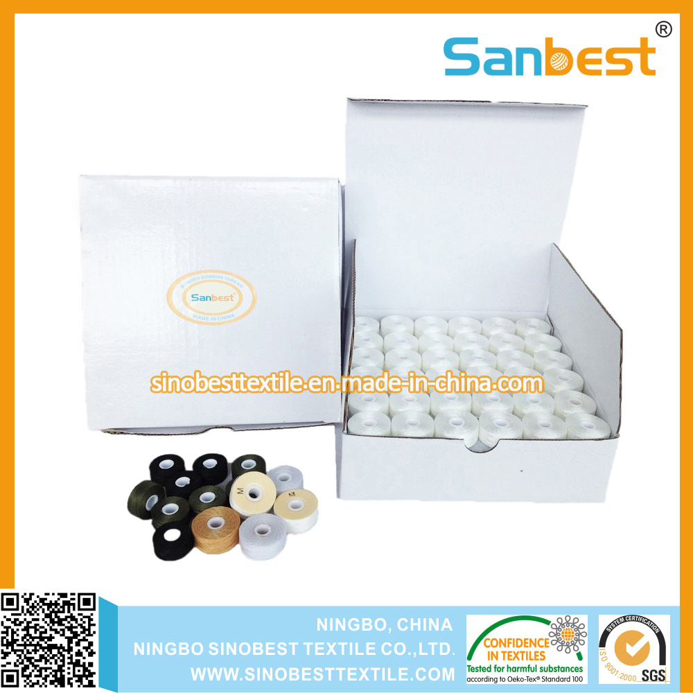 Chinese Factory of Pre-Wound Bobbins Thread for Embroidery
