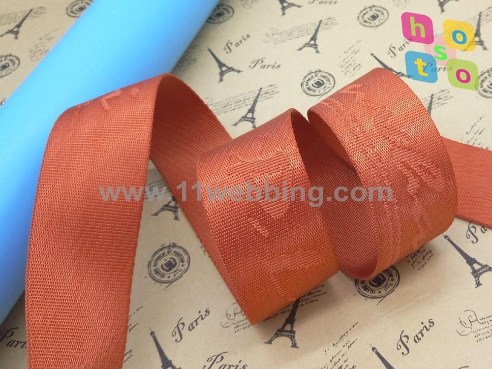 Nylon Twill Jacquard Webbing for Bag Strap