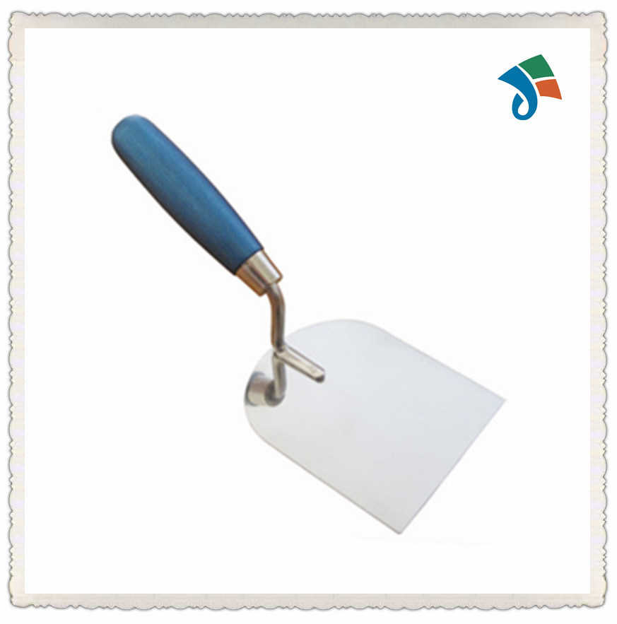 Painted Wooden Handle Stainless Steel Bricklaying Trowel for Construction