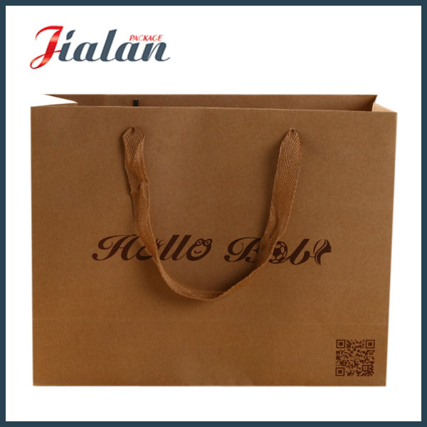 Custom Wholesales Shopping Gift Packing Logo Printed Kraft Paper Bag