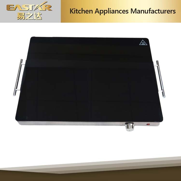 Tempered Glass Stainless Steel High Quality Food Warming Plate for Sabbath