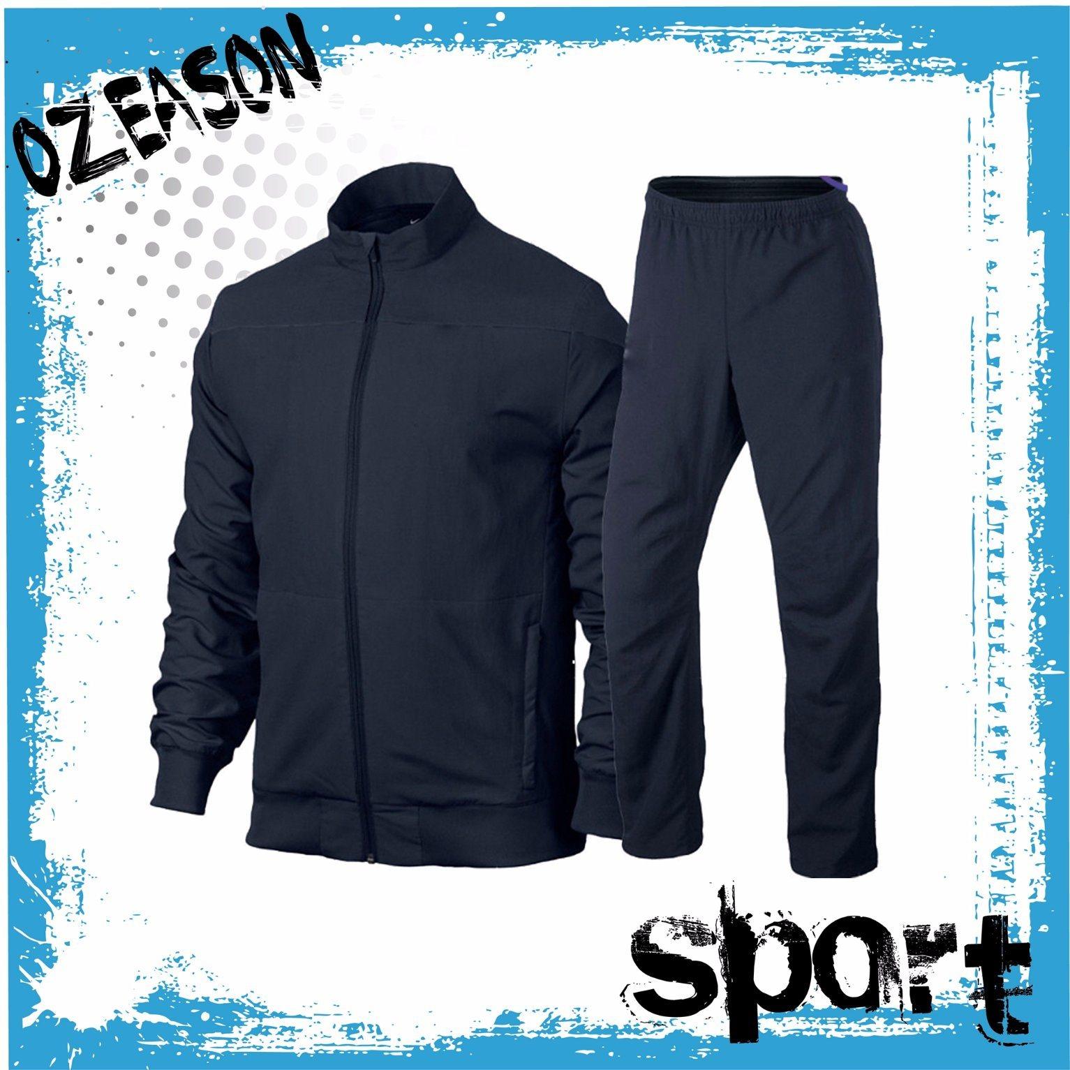 OEM Plain Blank Men′s Sport Jogging Suit (TJ014)