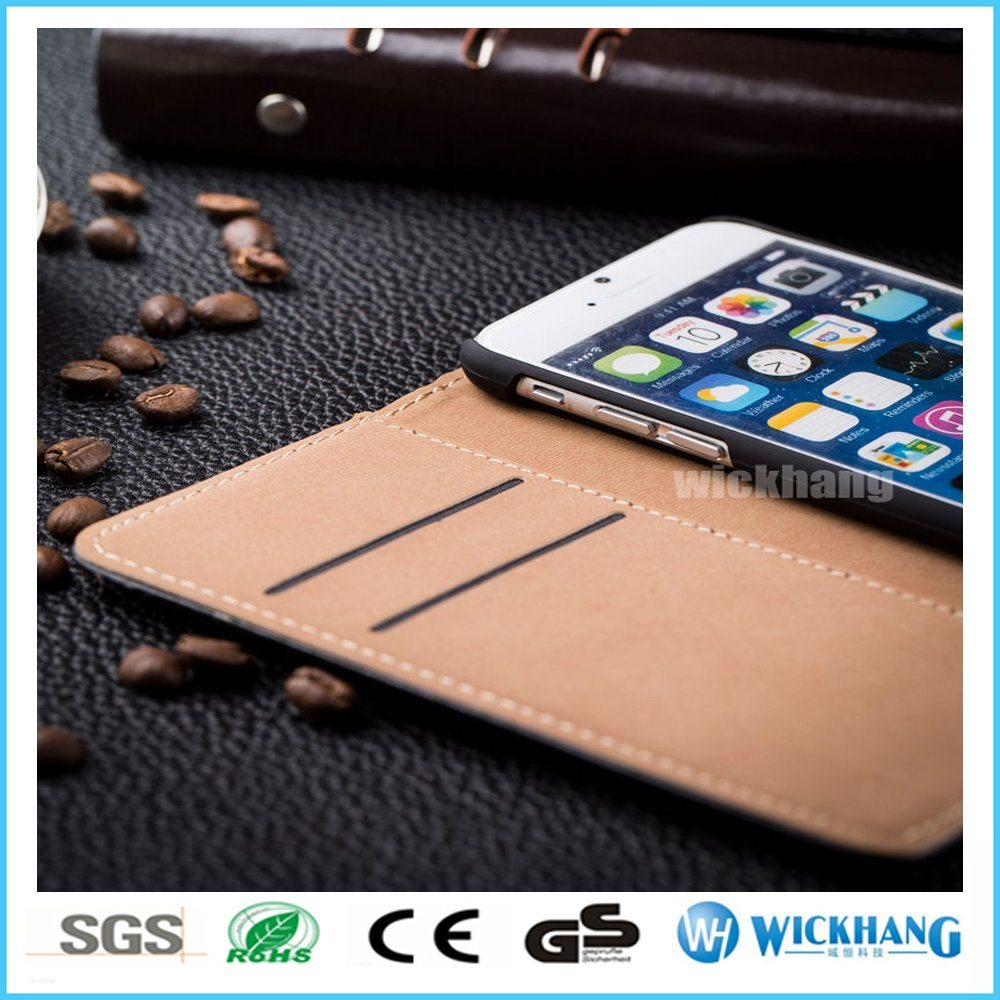 Genuine Leather Wallet Flip Case for iPhone 6 7 Plus