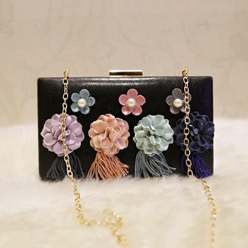Bags Woman Handbag Wholesale Price Lady Evening Clucth Bag with Flower Eb788