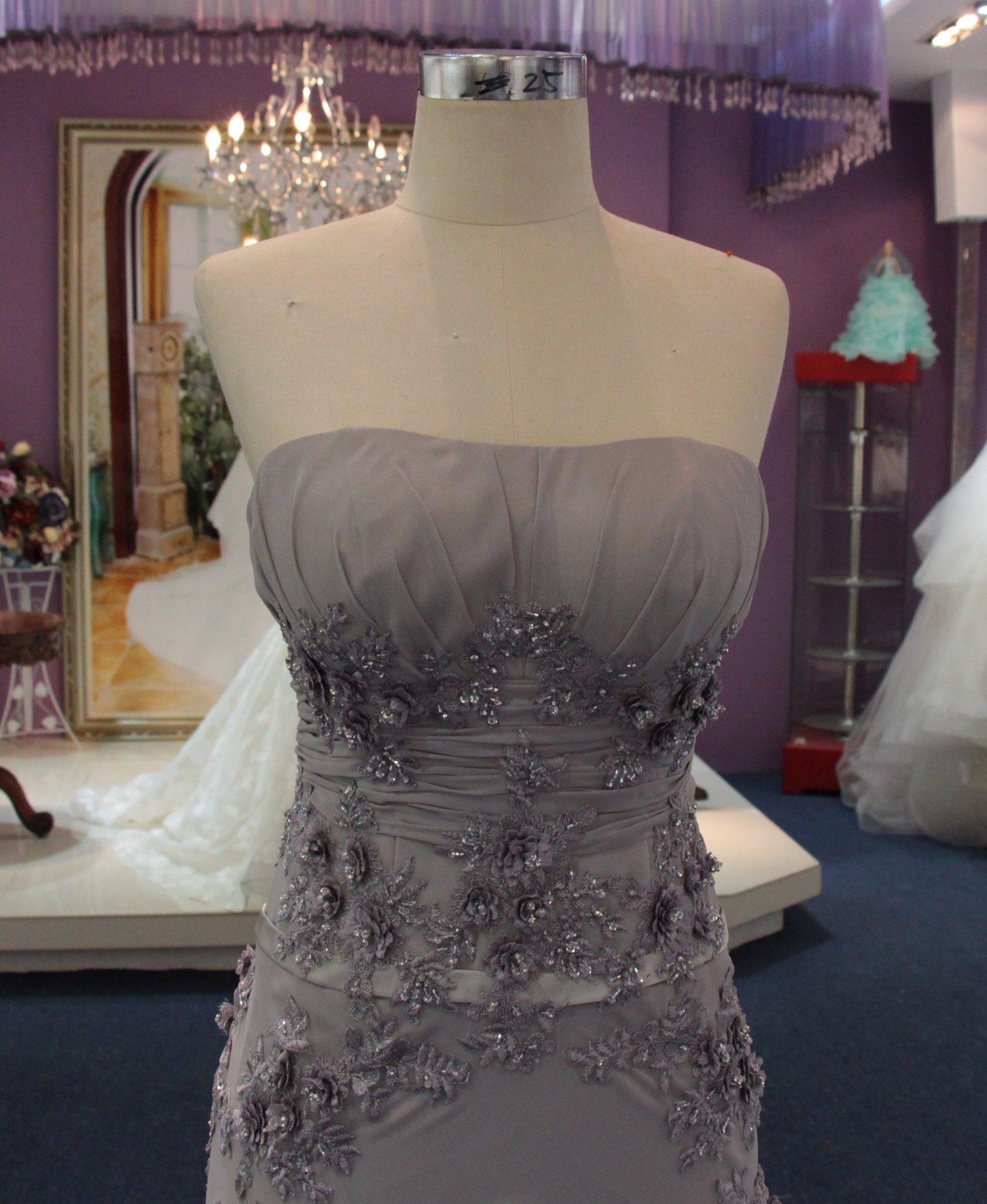 New Arrival Sheath/Column Grey Mother of Bridesmaid Evening Dress