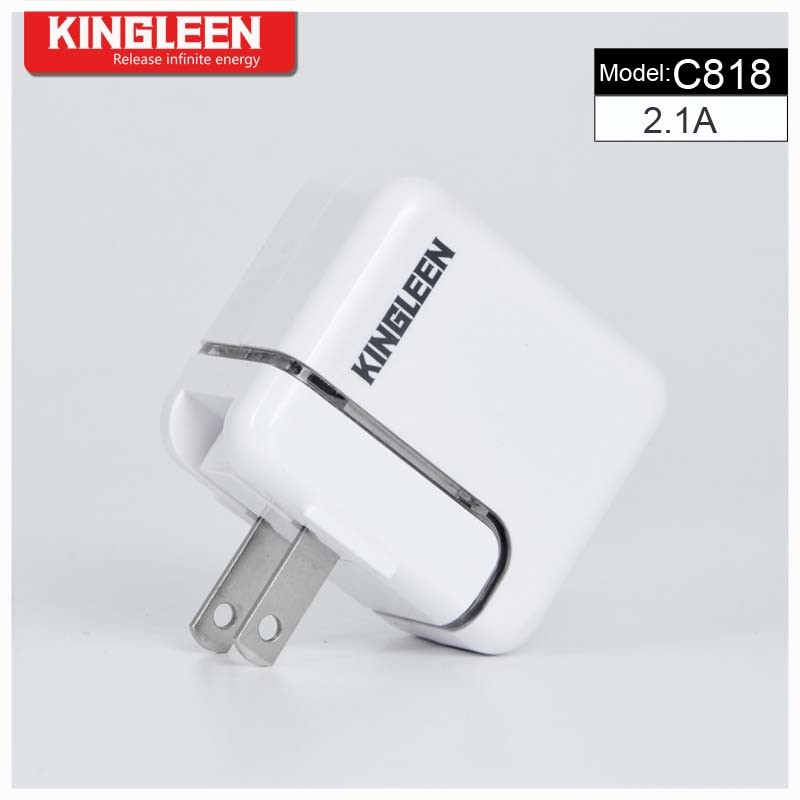 Kinglen′model C818 Single USB Intelligent Battery Charger 5V2.1A Combo Produced by The Original Factory