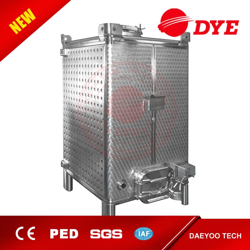 Stainless Steel Storage Water Rectangular Beer Fermentation Tank