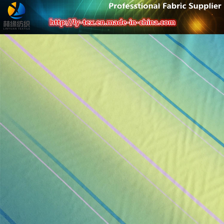 Shadow Polyester 2 Ways Stretch Printing Fabric for Shirt/Beachwear