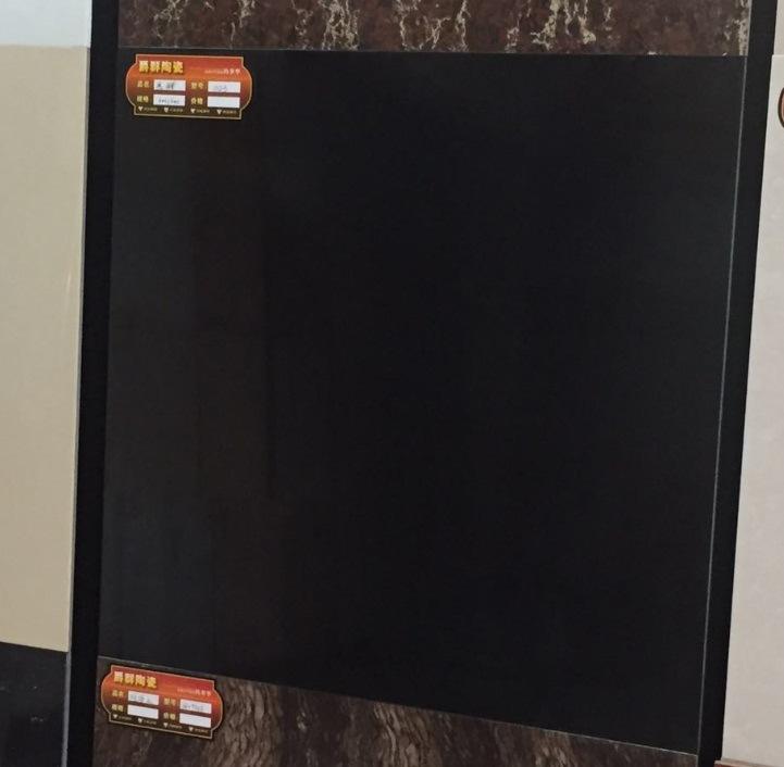 Super Black Polished Porcelain Floor Tile (TJ6S02)