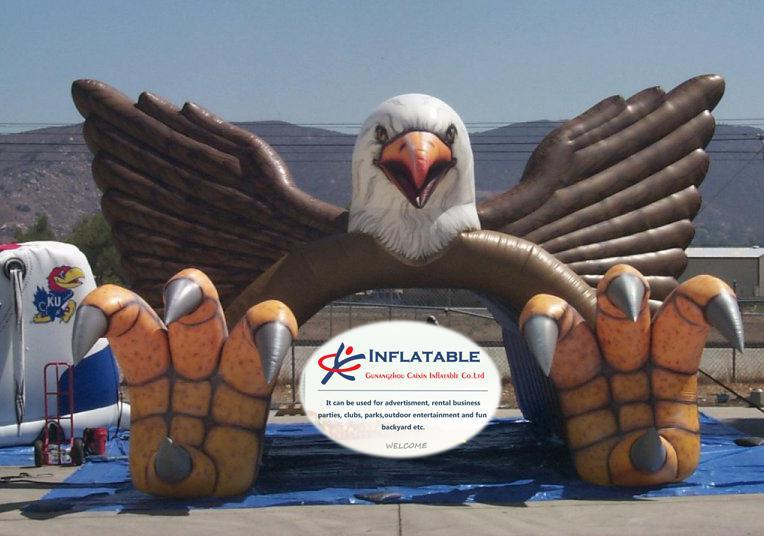 Inflatable Blast Eagle Mascot Tunnel for Football Sports Team