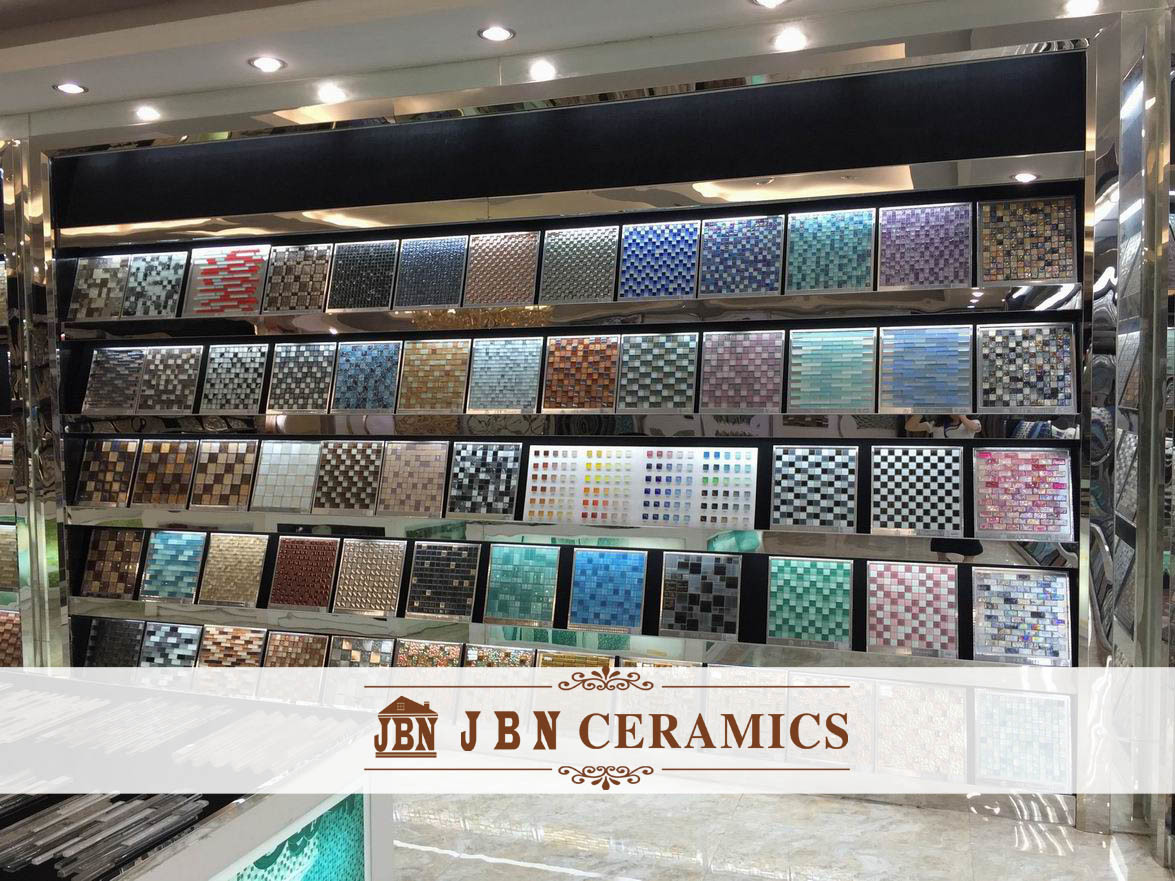 Glass and Golden Foil Mosaic for Wall Tile (M855010)