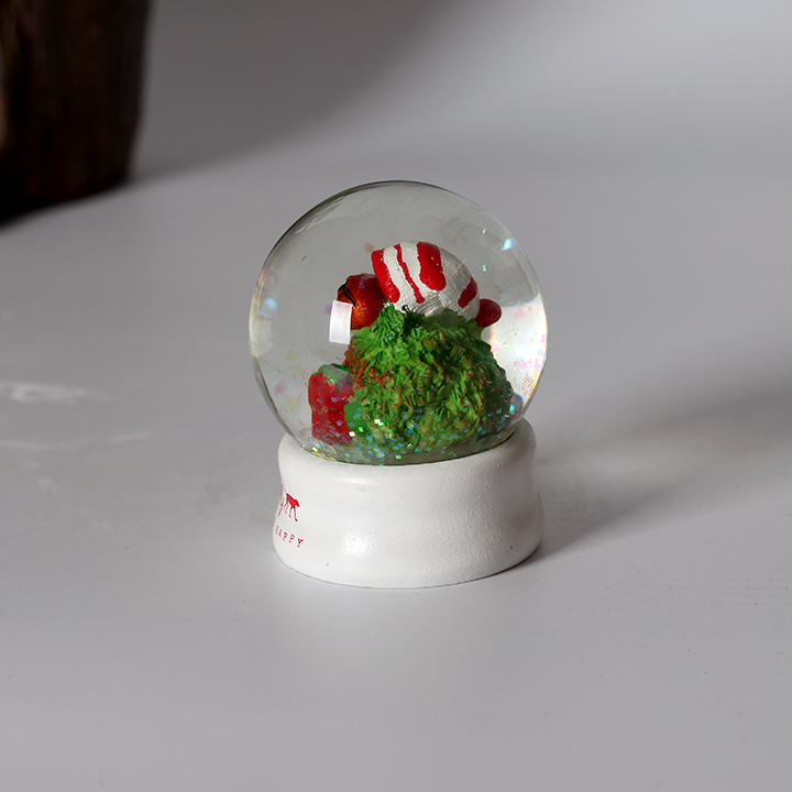 Custom Resin Christmas Elf Mini Snow Globe as Promotional