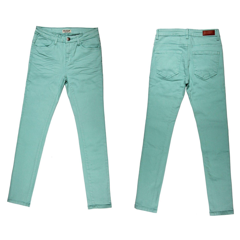Lady′s High Quality Garment Dye Skinny Twill Pant (MY-001)