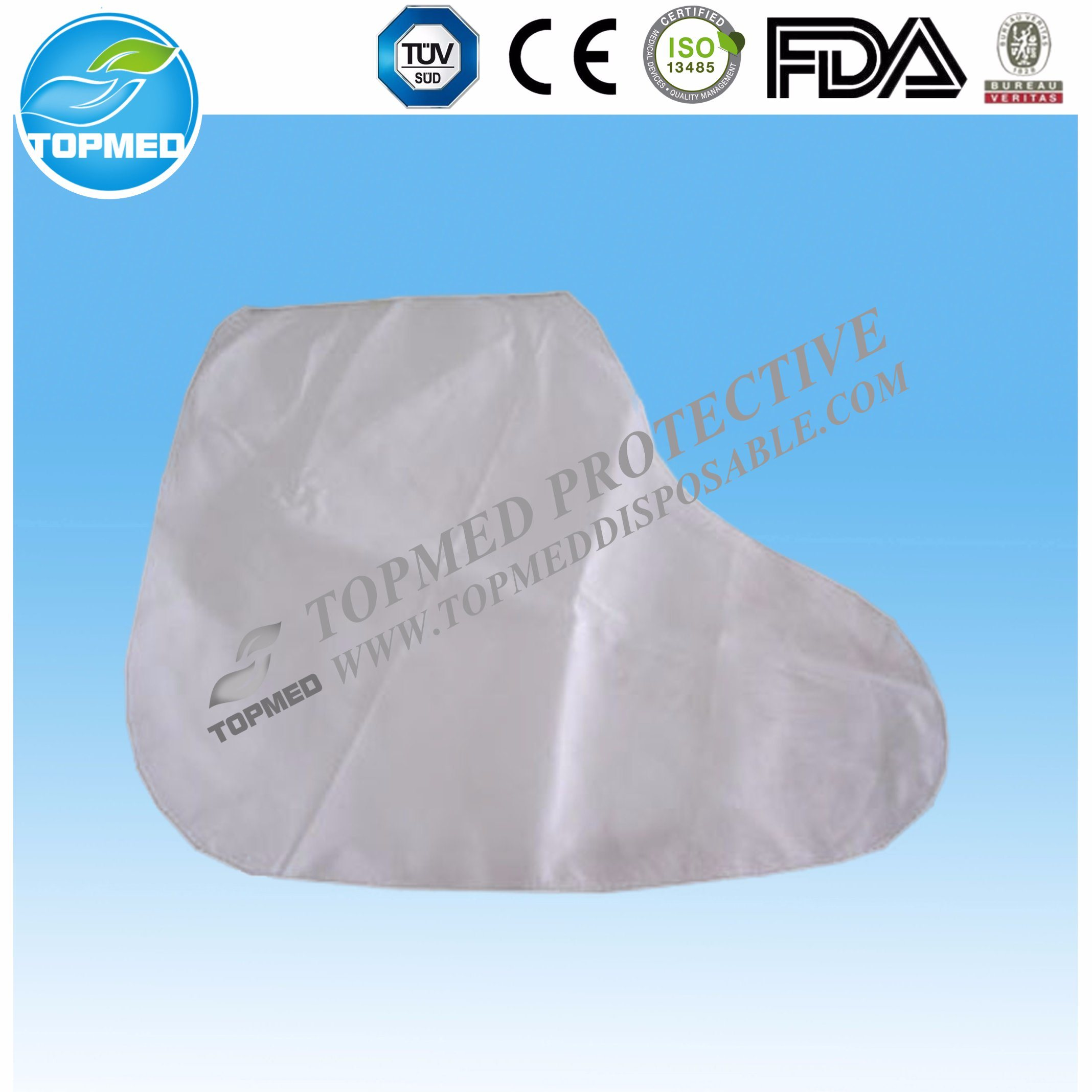 Disposable Waterproof Shoe Cover with CPE Coated / Rain Boot Cover