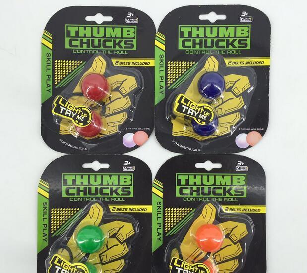 LED Finger Chucks Control Roll Fidget Toys Anti Stress Yoyo