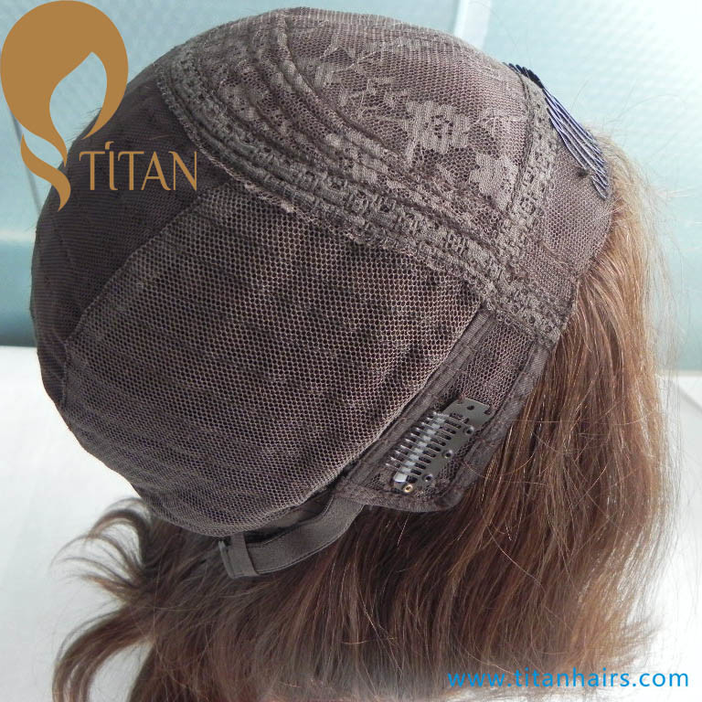 "10"" Virgin Human Hair Lace Front Jewish Kosher Wig"