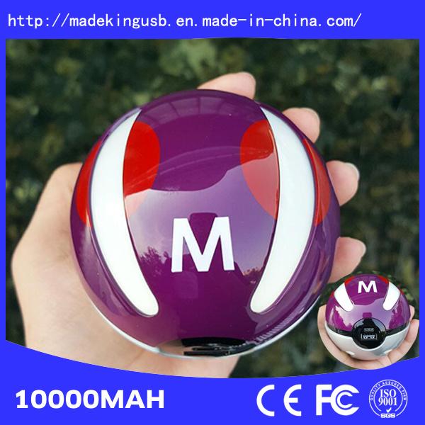 2016 New Design 10000mAh Pokemon Go Power Bank Pokeball