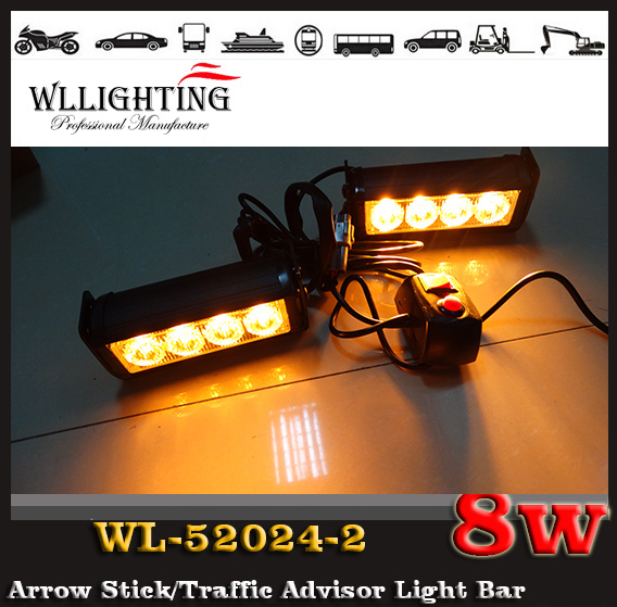 Police LED Warning Strobe Light Car LED Flashing Light for Front Grille LED Headlight Red Blue