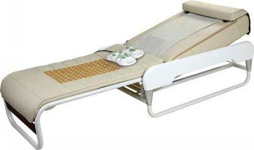 Spiral Screw+Jade Rollers Automatic Lift up and Down Adjustable Thermal Massage Bed with Lifter