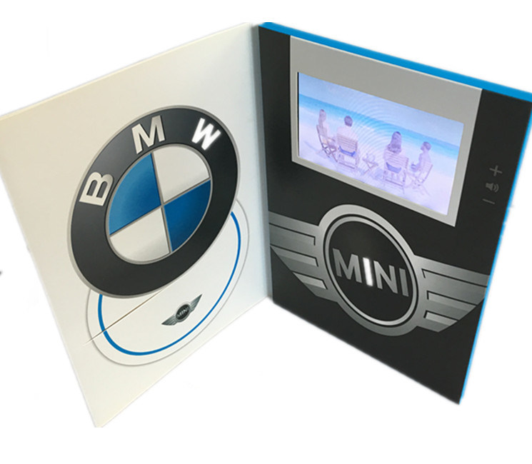 Business Gift Use Video Brochure 5 Inch LCD / TFT Screen Video Greeting Card 128MB with 3 Buttons