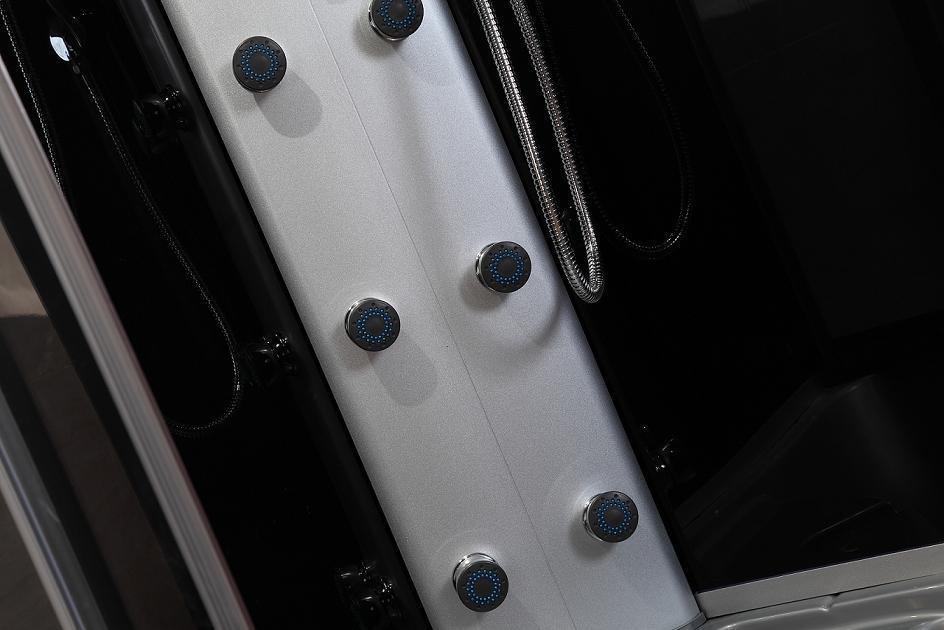 Black Frame Low Tray Steam Shower Cabin (ADL-8904)