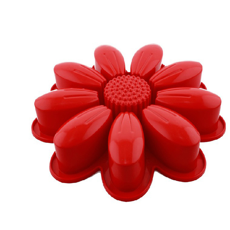Whole Sales Kitchen Tool Flower Shape Silicone Cake Pan for Baking Cake Bread