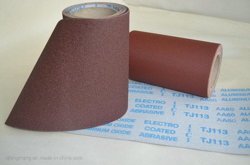 Hand Use Aluminum Oxide Emery Cloth Tj113 Aluminum Oxide