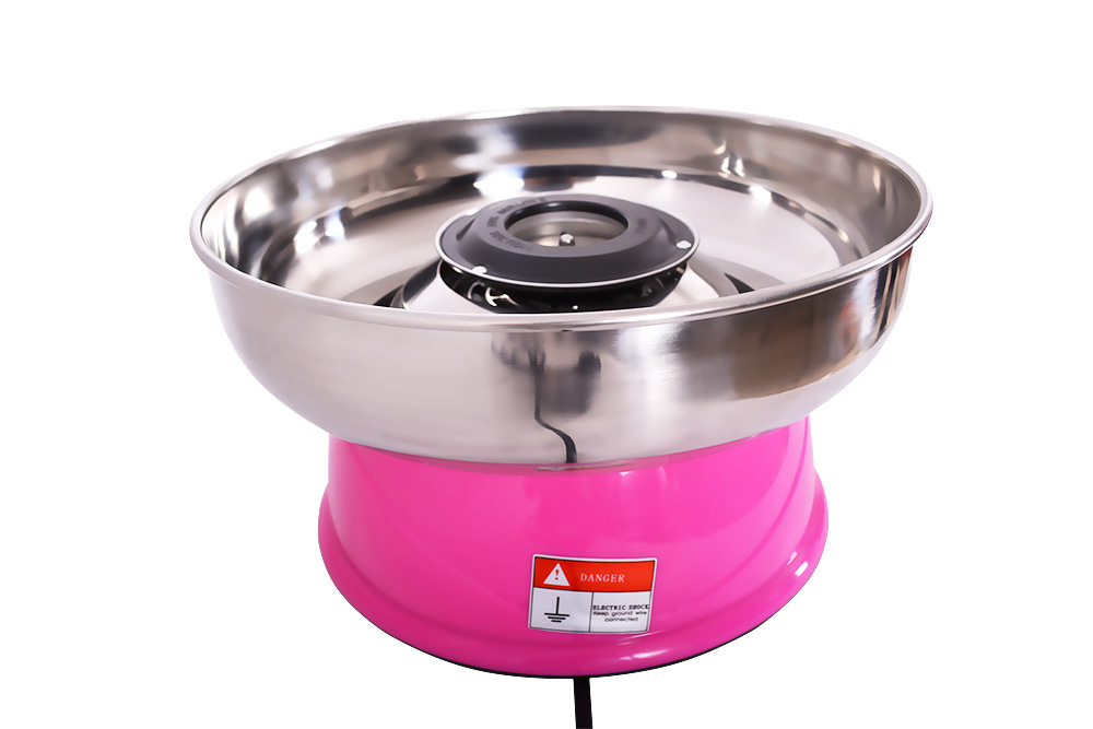 Automatic Commercial Cotton Candy Floss Machine, Electric Candy Floss Machine with Pink/Red Color