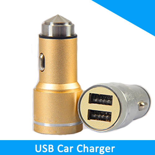 Double USB Car Charger 5V 1A Mobile Phone Car Charger