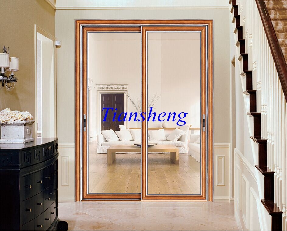 China aluminum soundproof interior sliding door room for Interior sliding glass doors room dividers