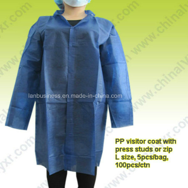 Ly Disposable Spp/SMS Nonwoven Lab Coat (LY-NLC-DB)