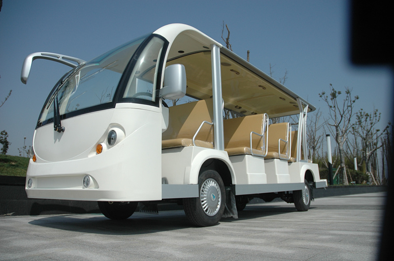 14 Seats Electric Bus, Shuttle Bus, Electri Car, Sightseeing Bus, Battery Powered Tourist Bus