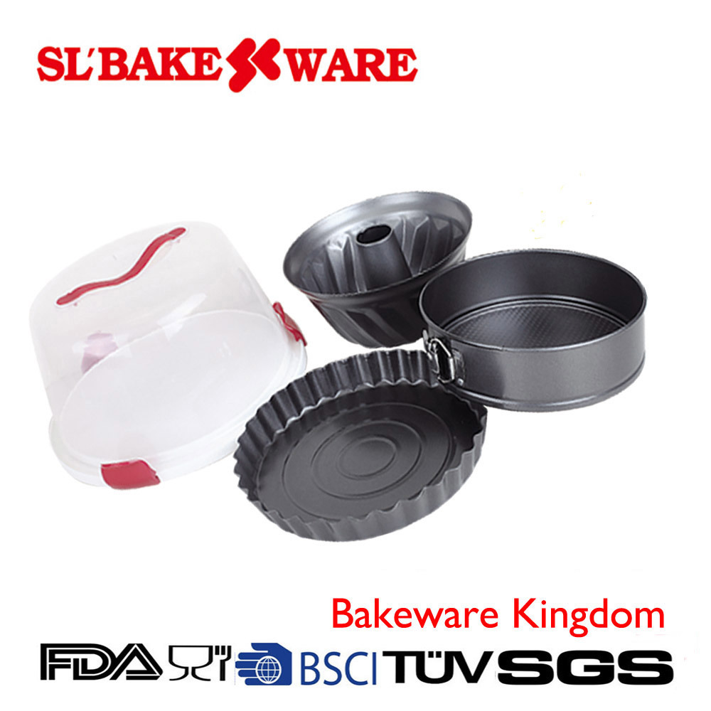 5PCS Bakeware with Round Case Carbon Steel Nonstick Bakeware (SL BAKEWARE)
