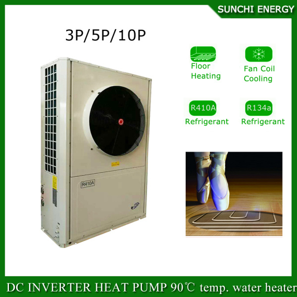 Denmark -25c Cold Winter Floor Heating 100~300sq Meter Room 12kw/19kw/35kw Auto-Defrost Split Air Source Evi Heat Pump Prices