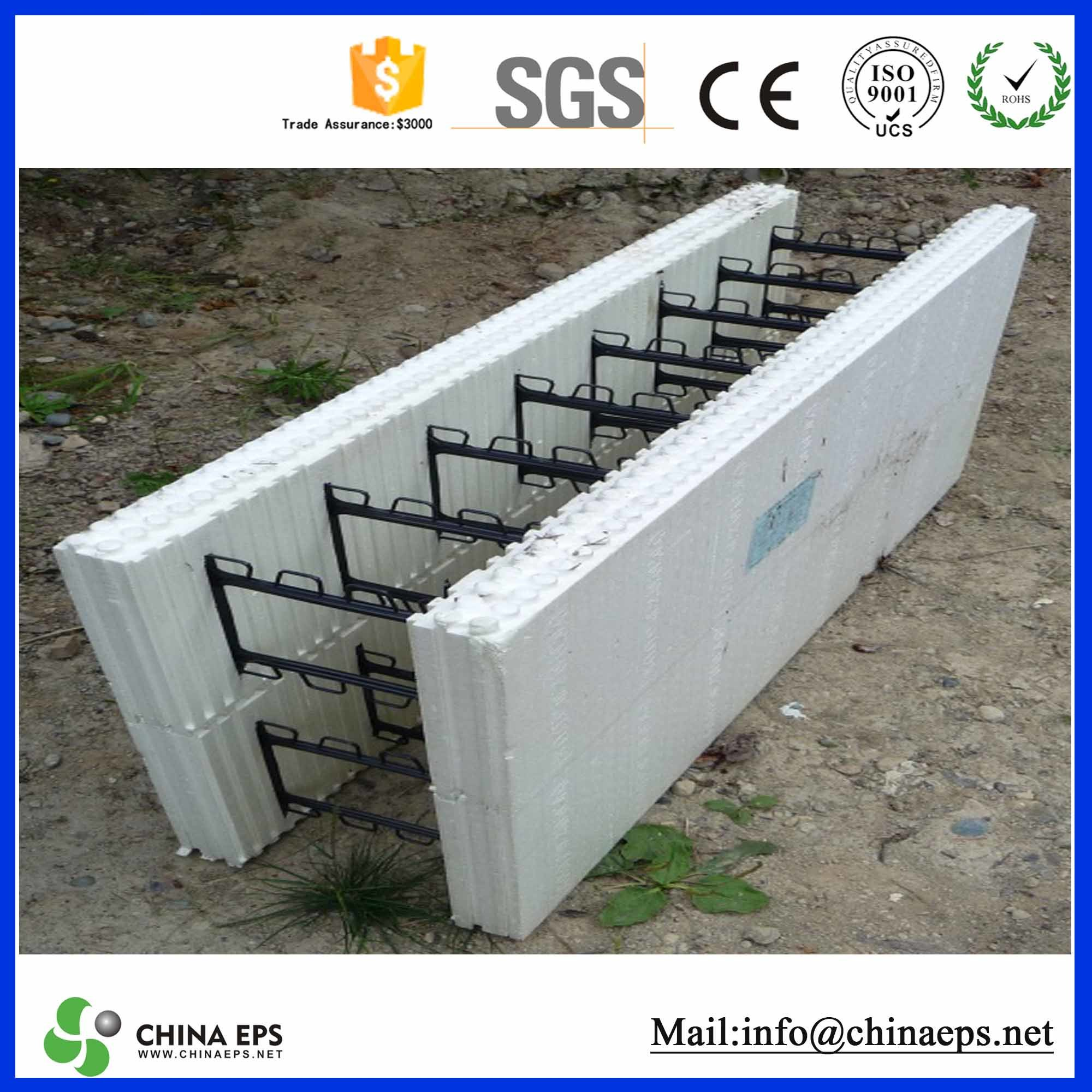 China high density extruded polystyrene eps beads for for Styrofoam concrete walls