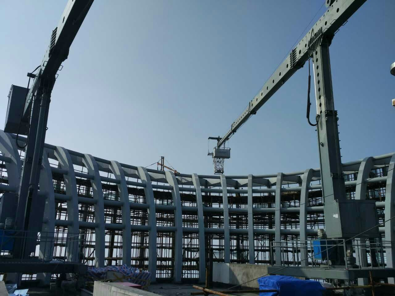 Double Jib Building Mmaintenance Unit Bmu