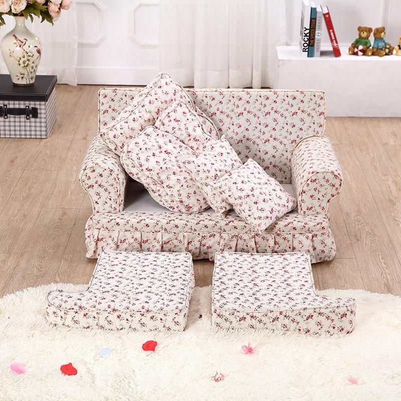 Double Seats Cotton Print Children′s Chair (SXBB-287)